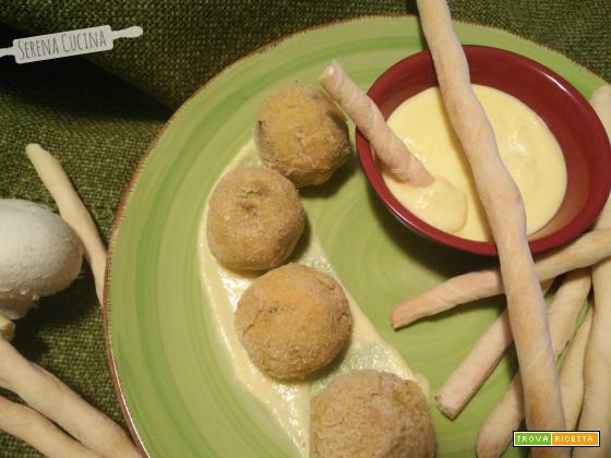 Polpette di funghi e patate con Rubatà e fonduta   