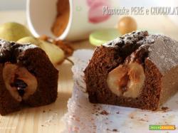 Plumcake cioccolato e pere con farina integrale