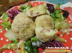 Crocchette di patate e salumi al microonde