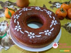 Torta cachi e cioccolato senza burro