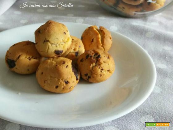 Biscotti alla farina di riso con cioccolato- ricetta senza glutine