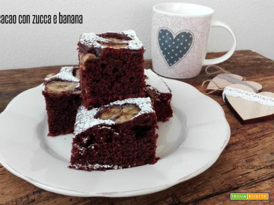 Cubotti al cacao con zucca e banana