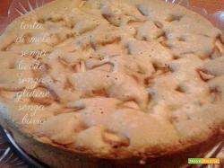 Torta di mele senza lievito senza glutine senza burro