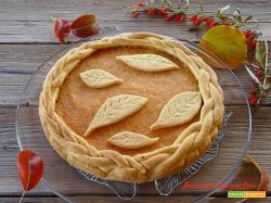 Crostata d'autunno con pasta frolla senza burro