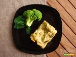 Lasagna broccoli, patate e funghi alla birra