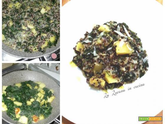 Quinoa con spinaci, patate e  canestrato di Moliterno