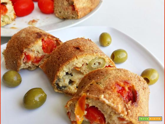 Ciambella Salata Light di Avena ripiena di Tonno e Olive