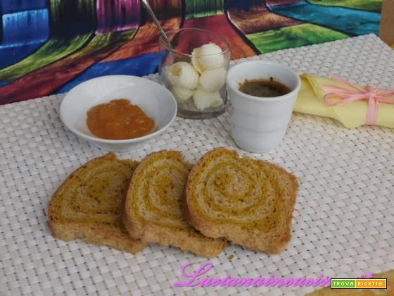 Fette biscottate alla curcuma e zenzero
