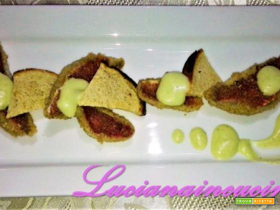 Filetti di triglia in crosta di nocciola e maionese al Wasabi