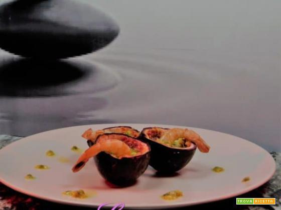 Gamberi marinati nel passion fruit