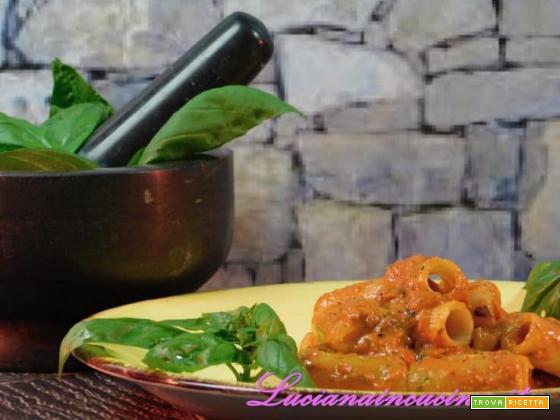 Pasta al pesto di peperoni