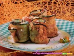Roselline di zucchina farcite