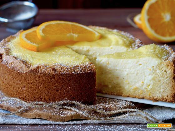 Crostata Morbida all'Arancia e Ricotta