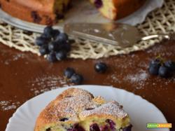 Torta di uva fragola con olio extravergine di oliva