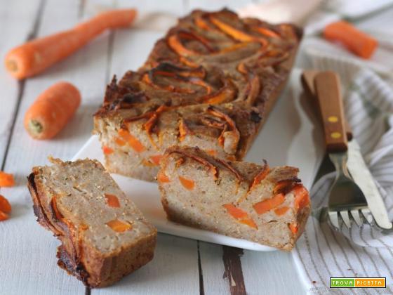 Plumcake salato carote e caprino senza uova