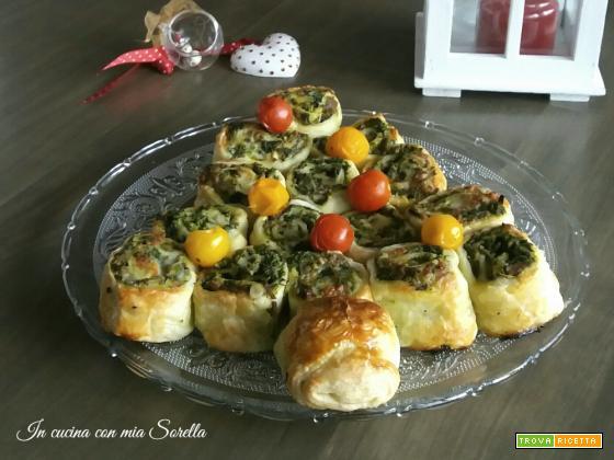 Albero di Natale salsiccia e friarielli – Antipasto Natalizio