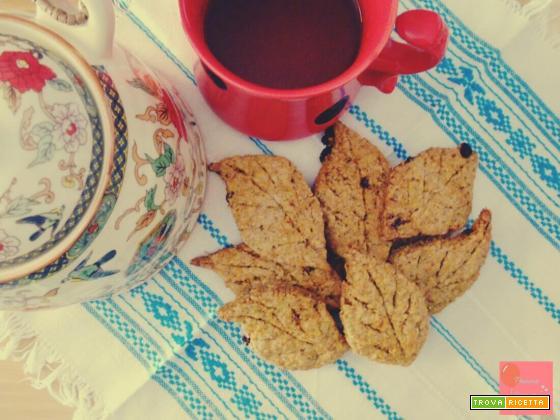 Biscotti integrali al tè verde senza burro