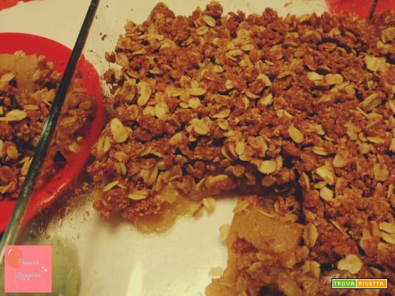 Crumble di mele con avena senza burro