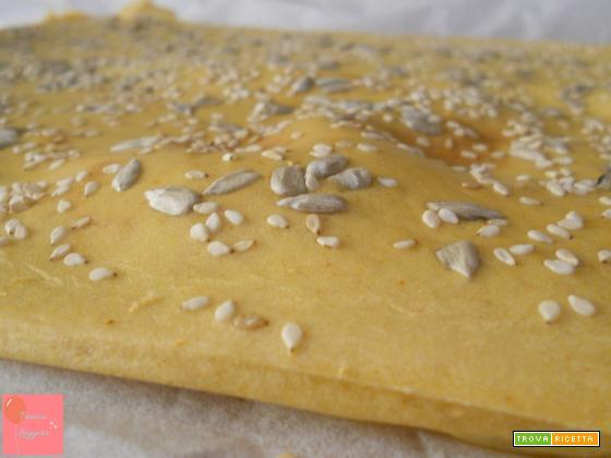 Focaccia con farina di ceci senza lievito