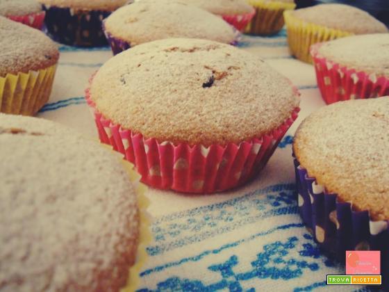 Muffin al tè verde con gocce di fondente