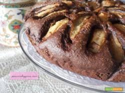 Torta pere e cioccolato senza uova e burro.