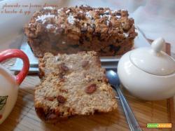 Plumcake con farina d'avena e bacche di goji