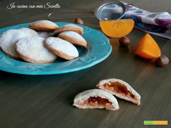 Biscotti ripieni al caco mela
