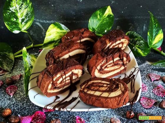 Vegan Girelle al Cioccolato farcite con crema nocciole vegan!!!