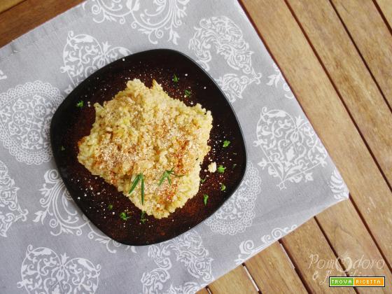 Risotto con crema di finocchi al forno