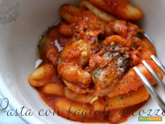 Pasta fagioli e cozze con il sughetto da inzuppo