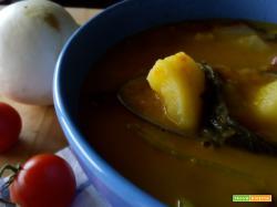 Ricetta Minestra di rape bianche, patate e fagioli
