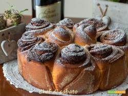 Torta di rose alla nutella con lievito di birra