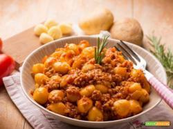 Avete mai provato gli gnocchi senza glutine al ragù?