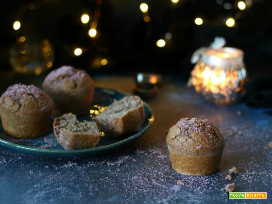 Muffin con farina di riso integrale Violet– ricetta veg