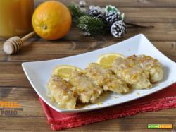 Petto di pollo all'arancia e miele