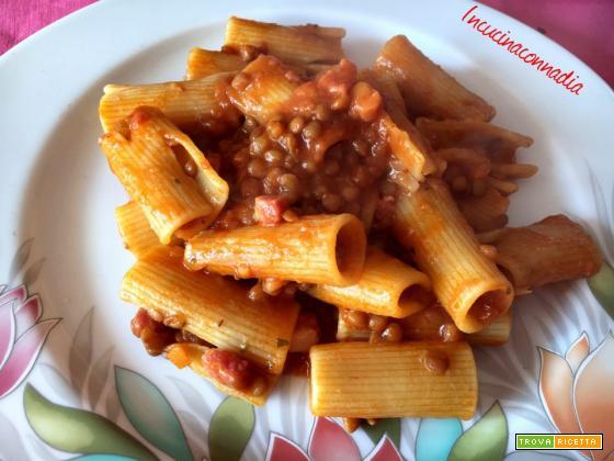 Pasta con lenticchie e pancetta