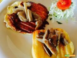 Caciocavallo alla piastra con funghi porcini