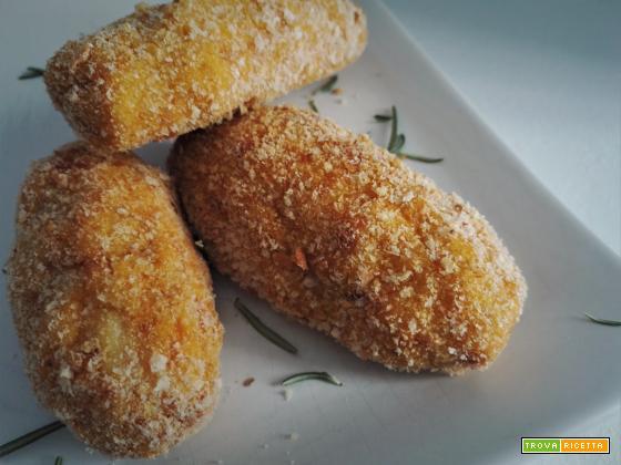 Crocchette (panzerotti) di patate e zucca al forno