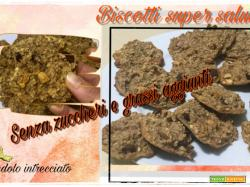 Biscotti della salute-SENZA ZUCCHERI e grassi aggiunti + video ricetta