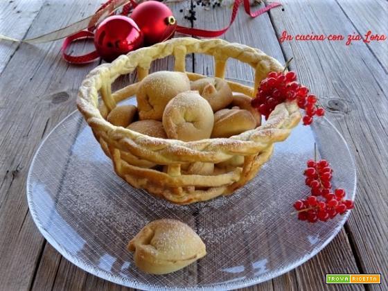 Tortellini dolci biscotti di Natale
