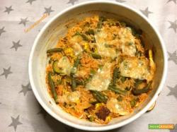 Sformato di verdure e riso
