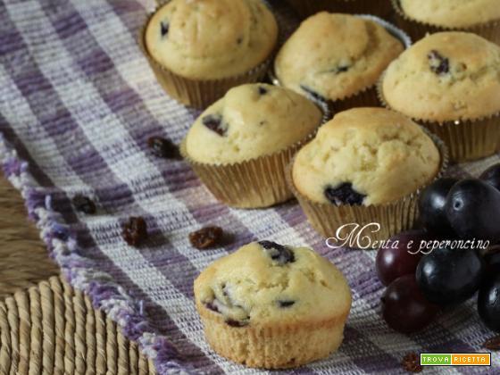 Muffin con uva e uvetta