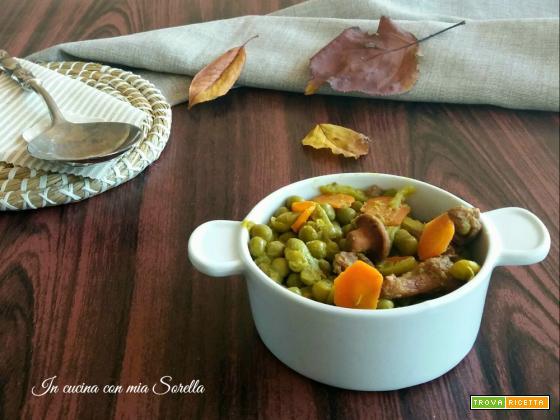 Piselli alle carote e funghi – ricetta versatile di contorno o sugo