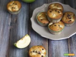 Muffin mele e cioccolato senza burro