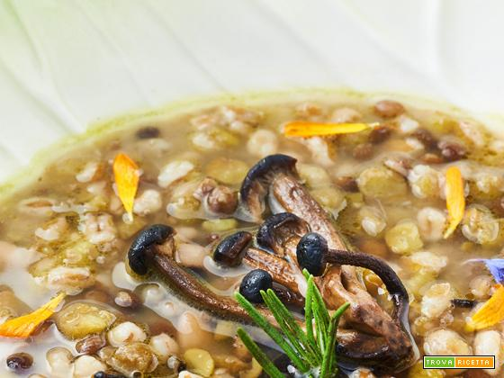 zuppa toscana con rape e funghi