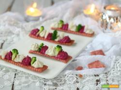 Barchette formaggio e verdure con frolla light