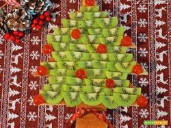 NataKiwi: torta albero di Natale con kiwi