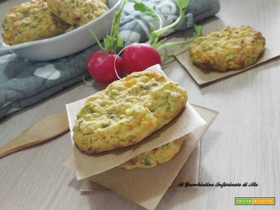 Medaglioni di farina di ceci e verdure