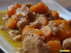 Spezzatino di maiale alle carote