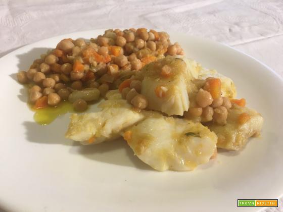 Baccalà con i ceci, piatto sano, nutriente completo e sostanzioso